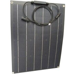 Image 2 - China ETFE flexible solar panel 40w semi flexible solar panel mono solarzelle 18V ETFE Beschichtung panel ladegerät 12V solar ladegerät