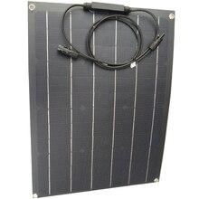 Panel solar flexible de 40W, monocristalina célula solar de 12v, cargador de batería solar para uso doméstico, 80w, igual a 2 uds. De 40w