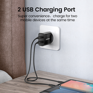 Image 3 - Ugreen USB Charger for iPhone 8 X 7 6 iPad 5V3.1A Smart USB Wall Charger for Samsung Galaxy S9 LG G5 Dual Mobile Phone Charger