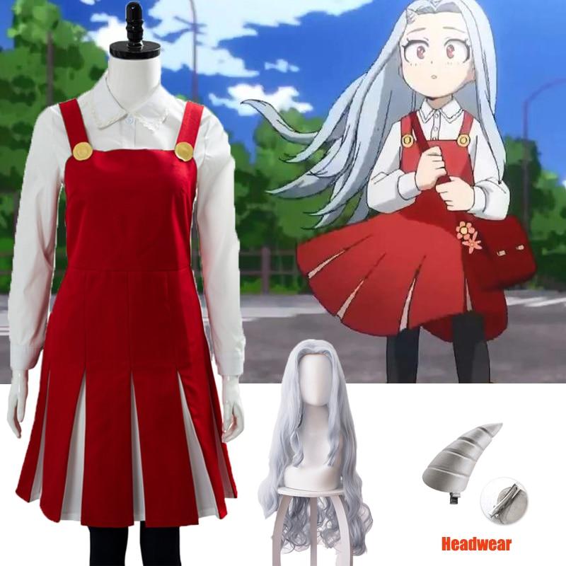My Hero Academia Season 4 Eri Cosplay One-piece Bandage Dress Kid/'s Girl Costume