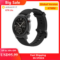 Global Version Amazfit GTR Lite 47mm Smartwatch AMOLED BT5.0 5ATM Waterproof Smart Watch 24 Days Battery For Xiaomi Android IOS