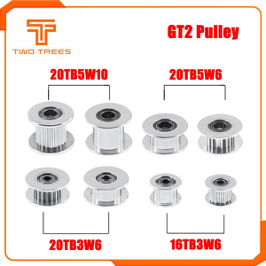 GT2 Idler Timing Pulley 16/20 Tooth Wheel Bore 3/5mm Aluminium Gear Teeth Width 6/10mm For I3 Ender 3 CR10 Printer Reprap Parts(China)