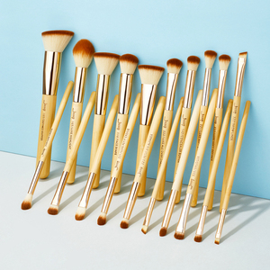 Image 4 - Jessupแปรงไม้ไผ่ 20pcs Professionalแปรงแต่งหน้าแปรงแต่งหน้าMake up Brush Tools Kitแป้งรองพื้นFoundation PowderแปรงEye Shader