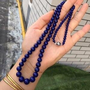 Image 3 - 天然のペンダントラウンドビーズ女性男性パーティー新ギフトレイキ石の水晶のネックレス 4 10 ミリメートル AAAAA