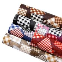 20*34 см лоскутное одеяло сшивание решетки синтетическая кожа, материалы для ручных поделок для сумки серьги ремесла, 1Yc7499