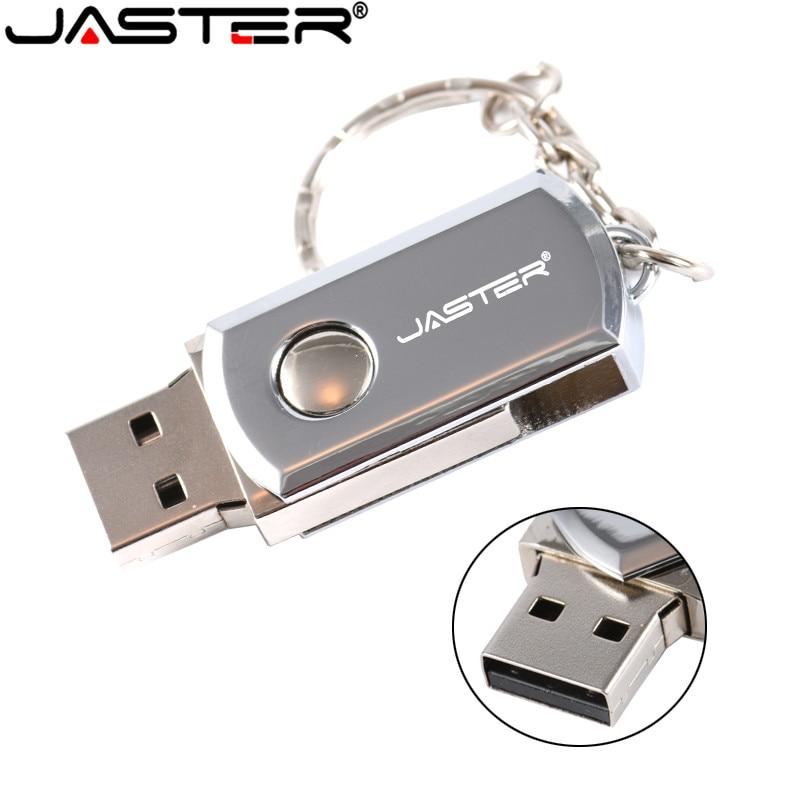 JASTER USB 2.0 USB Flash Drive 4G 8GB 16GB 32GB 64GB Pen Drive Portable External Hard Drive Metal USB Memory Stick With Keyring