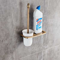 Antique/Black/White Toilet Brush Holders With Bathroom Shelves Toilet Bowl Brush Clean Bathroom Accessories