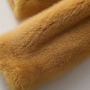 Image 5 - Winter Full Pelt Real Mink Fur Coat Women Fashion Short Mink Fur Jackets Luxurious High Quality Warm Thick Natural Slim Outwear