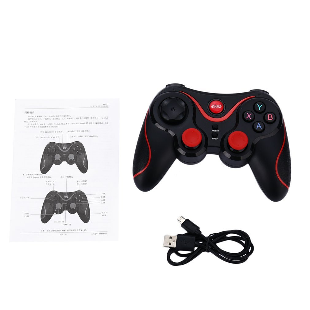 <font><b>Bluetooth</b></font> <font><b>Gamepad</b></font> Wireless <font><b>Joystick</b></font> Joypad Gaming <font><b>Controller</b></font> <font><b>Remote</b></font> Control For Tablet PC For Android Smartphone With Holder image