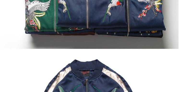 Jaquetas bordadas de outono homens, manga longa,