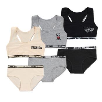 Conjuntos de sujetador y bragas para niñas de 12 años en ropa interior, sujetador de entrenamiento para jóvenes, sujetador de adolescente, lencería para bebés, Sujetador deportivo para niños