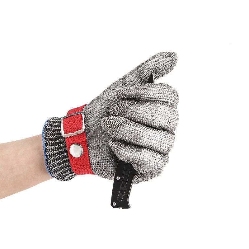 Image 5 - 5 Level Anti cutting Work Gloves Stainless Steel Wire Safety Gloves Safety Stab Resistant Work Gloves Cut MetalSafety Gloves   -