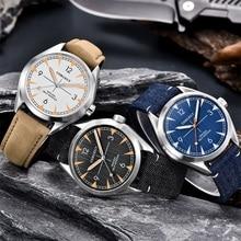 Men Corgeut Automatic Mechanical Watch Luxury Fashion Casual Brand Leather Man waterproof sport male Watches relogio masculino