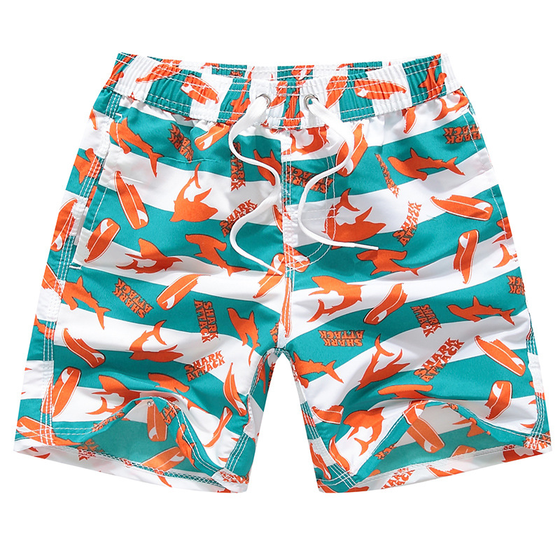 Boys' Shark-Printed Swimwear Trunks