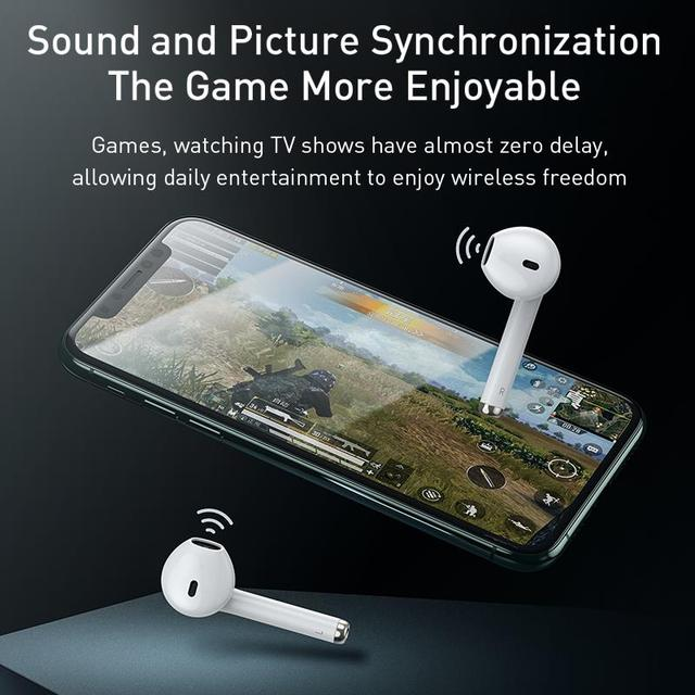 Baseus W04 TWS Bluetooth Earphone 5.0 True Wireless Earbuds Stereo Headphones For Xiaomi Handsfree In Ear Phone Sport Headset 4
