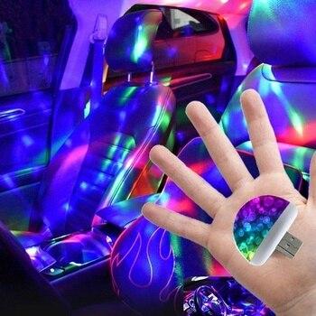 Nuevo Multi Color USB Iluminación led interior de coche Kit atmósfera luz neón lámparas
