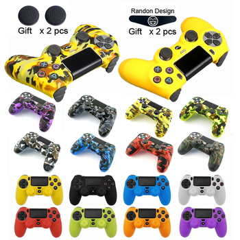 ZOMTOP Soft Silicone Gel Rubber Case Cover For SONY Playstation 4 PS4 Controller Protection Case For PS4 Pro Slim Gamepad cool camouflage soft silicone cover case protection skin for sony playstation 4 ps4 for dualshock 4 controller console decals