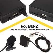 Беспроводной Hi-Fi аудио автомобильный bluetooth 5,0 Модуль AUX микрофон кабель адаптер Радио стерео для Benz W169 W245 W203 W209