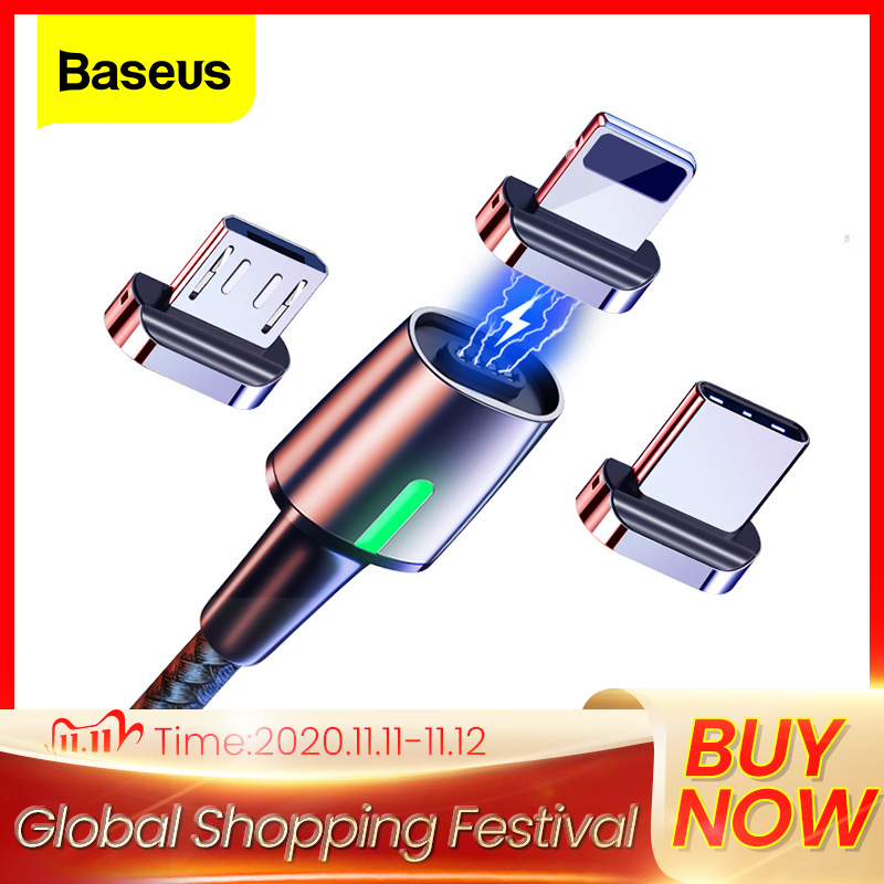 Baseus Magnetic Micro USB Cable For iPhone Samsung Type C Charging Cable Magnet Charger Adapter USB Type C Mobile Phone Cables|Mobile Phone Cables|   - AliExpress