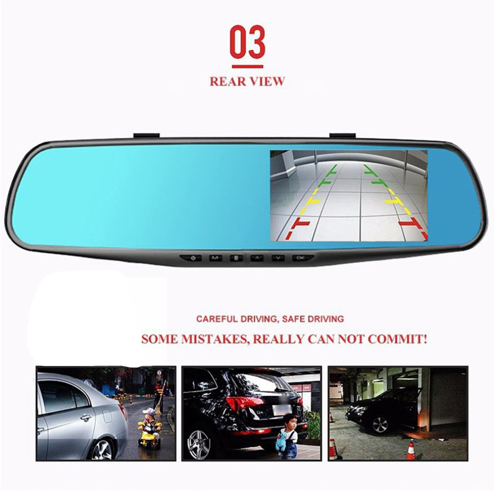 3.5 inch Car DVR Mirror Car Dvr Camera HD 1080P Rear View Mirror Digital Video Recorder Dual Lens Auto Dash Cam