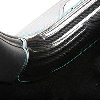 2 uds diseño de fibra de carbono coche embellecedor de alféizar de puerta cubierta de arrastre platos para Mini Cooper F56 2014  2015  2016  2017  2018  bienvenido estribo
