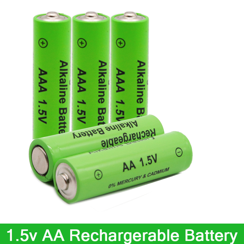 New Tag 3000 MAH Rechargeable Battery AA 1.5 V. AAA  1.5V Rechargeable New Alcalinas Drummey For Toy Light Emitting Diode