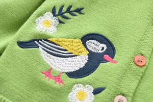 Image 5 - LOVE DD&MM Girls Coat 2020 New Childrens Clothing Girls Cute Bird Soft Long Sleeved Casual Button Knit Cardigan Coat