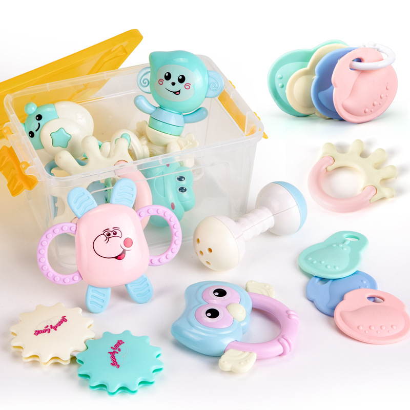 Toys For Children And Infants 0-1 A Year Of Age Grasping Baby 8 Soft Silcone Teeth Molar Rod 3-6-12 Month Can Be Boiled Rattle