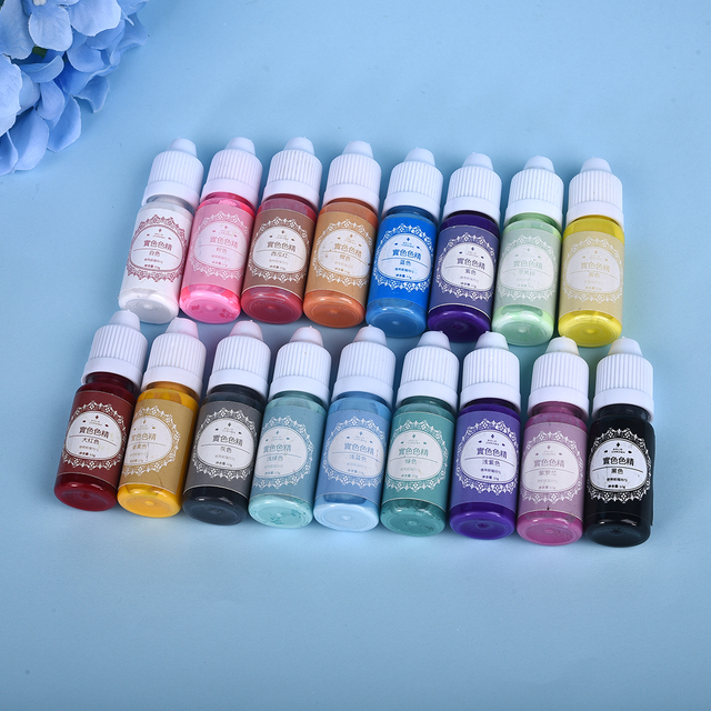 10ML 17 Color Resin Pigment Epoxy Resin Pigments Liquid Colorant Dye Resin Jewelry Making