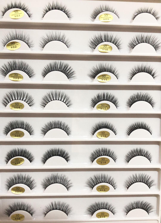 natural false eyelashes fake lashes long makeup 3d mink lashes extension eyelash mink eyelashes-in False Eyelashes from Beauty & Health