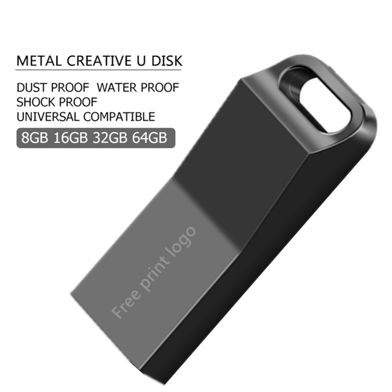 Cle Usb 16GB High Speed U Disk Pen Drive 64GB Metal USB Flash Drive 32GB Pendrive 128GB  Flash Memory Stick 64GB Free Custom LOG