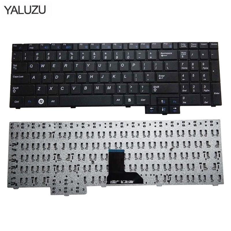 YALUZU English notebook keyboard FOR samsung R620 R528 R530 R540 NP R620 R525 NP R525 R517 R523 RV508 US layout laptop keyboard-in Replacement Keyboards from Computer & Office on