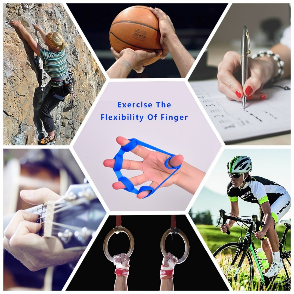 1Pcs Silicone Finger Gripper Strength Trainer Resistance Band Hand Grip  Wrist Yoga Stretcher Hand Stretch Expander Fitness Gear|Hand Grips| -  AliExpress