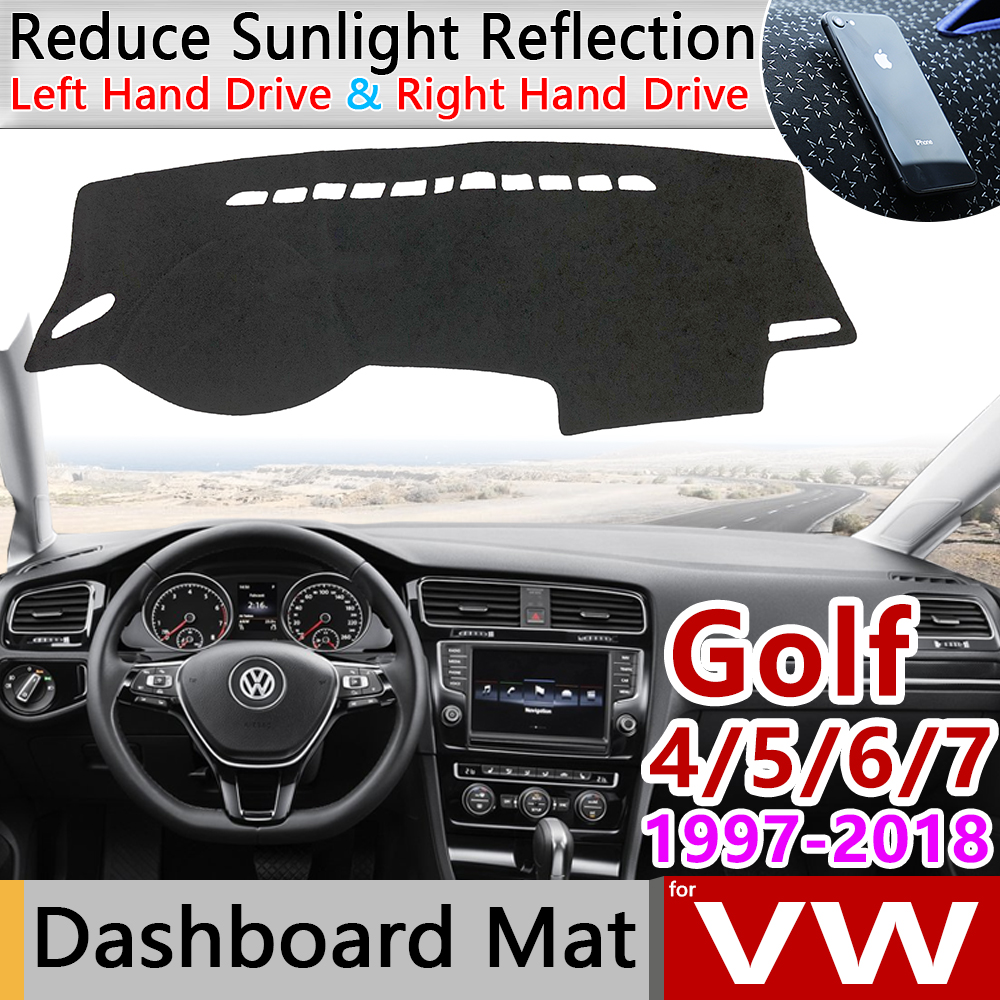 for Volkswagen VW Golf 4 5 6 7 Sportsvan 1997 2018 Anti-Slip Mat Dashboard Pad Sunshade Accessories MK4 MK5 MK6 MK7 1J 1K 5K 5G