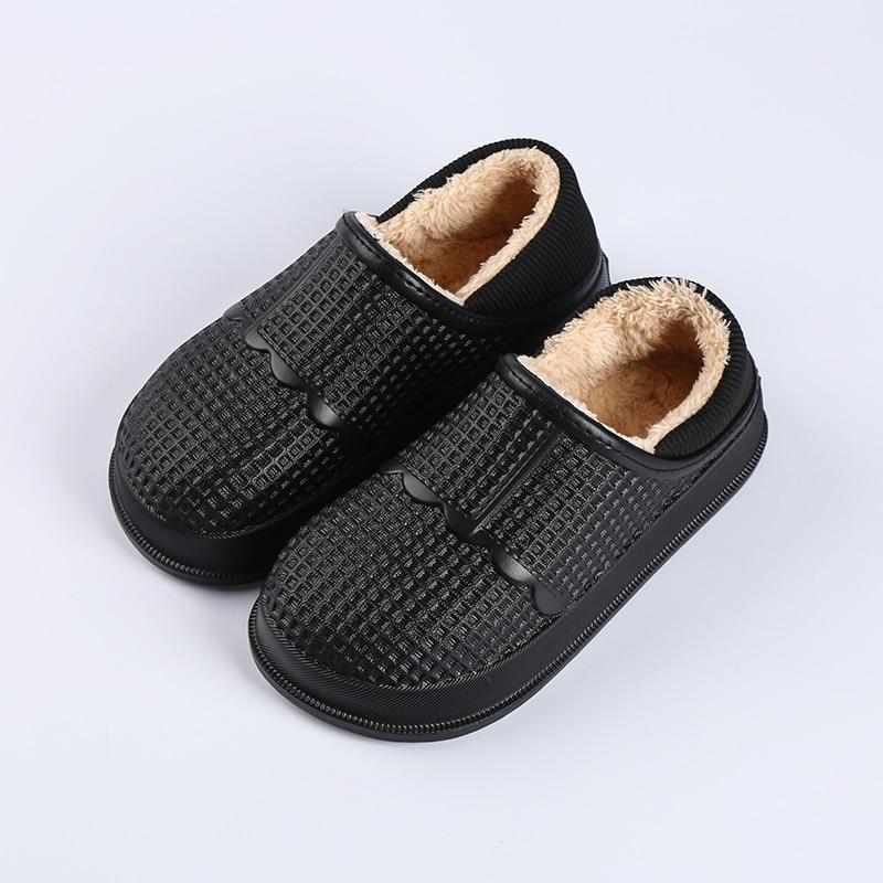 Ltolo Winter Children Kids Boy Mules Warm Clogs Crock Sandals Garden Slippers Causual Fur Plush Sneakers Shoes For Boys EUR31-36