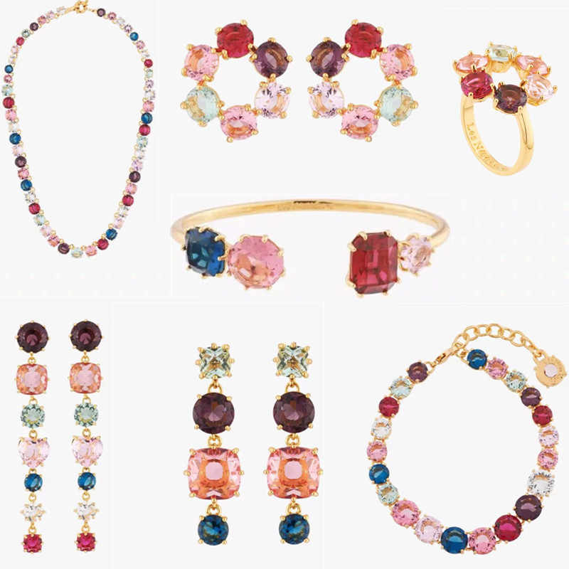 2020 Amybaby Handmade Designer Faceted Colorful Glass Crystal Womens Necklace Stud Earring Bracelet Ring Jewelry For Party