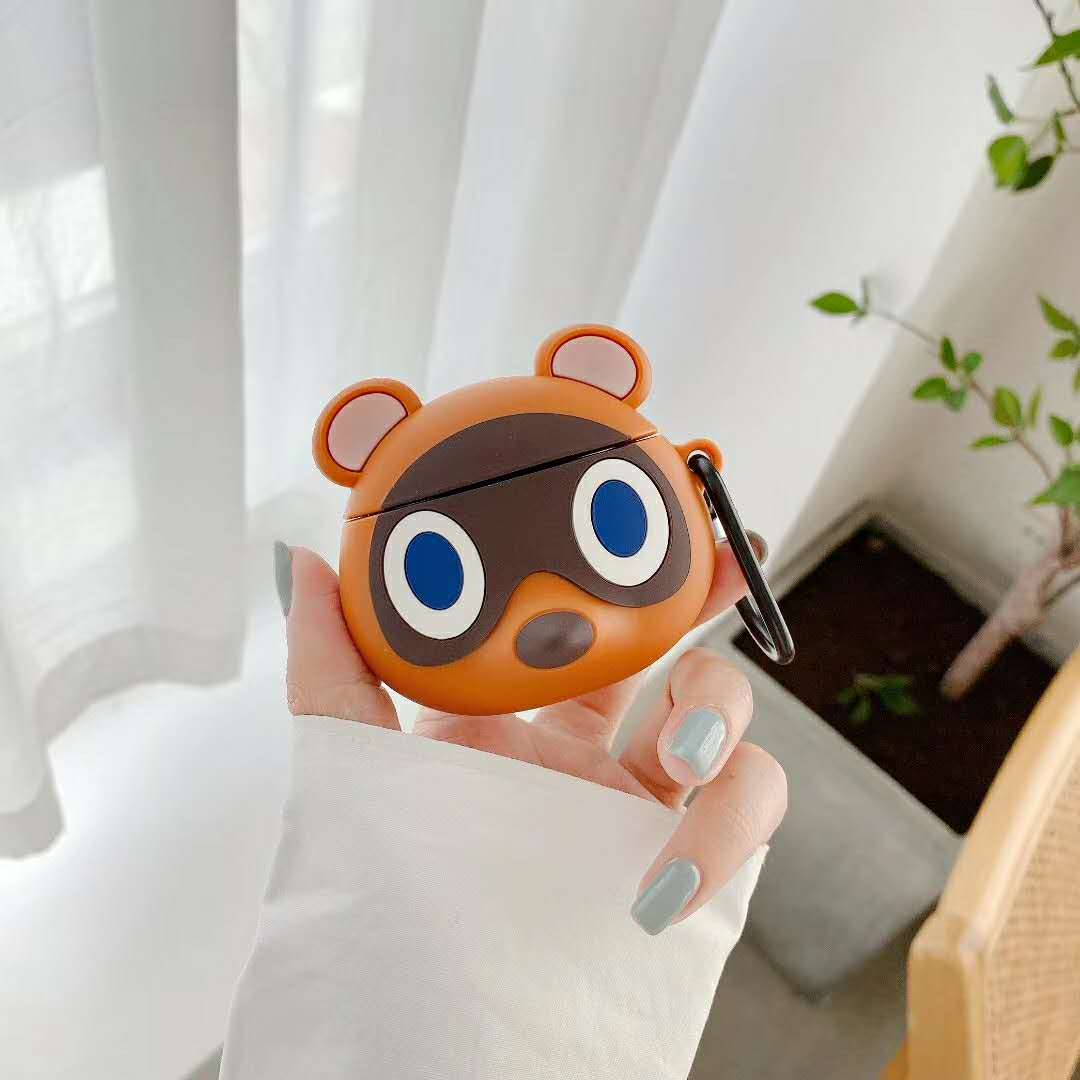 Nintendo Switch Animal Crossing 3D New Horizons Cartoon Cases For Airpods 1/2/pro Cute Silicone Protection Earphone Accessories