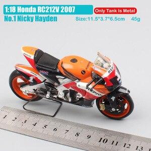 Image 2 - 1/18 scale new ray Honda RC212V rider No.1 Nicky Hayden 2007 moto bike motorcycle racing gp Diecasts & Toy Vehicles models hobby