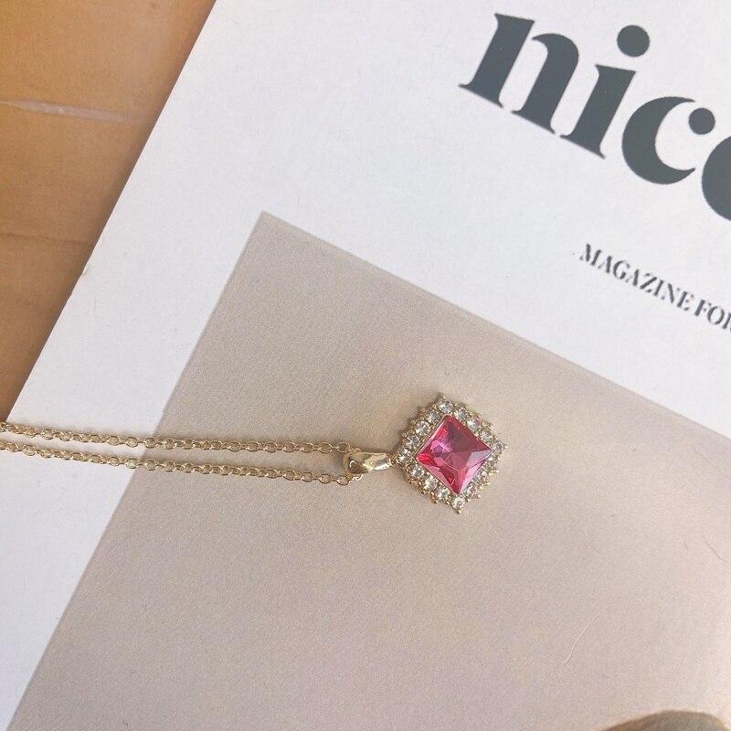 Женское блестящее ожерелье mengjiqiaonew корейское квадратное