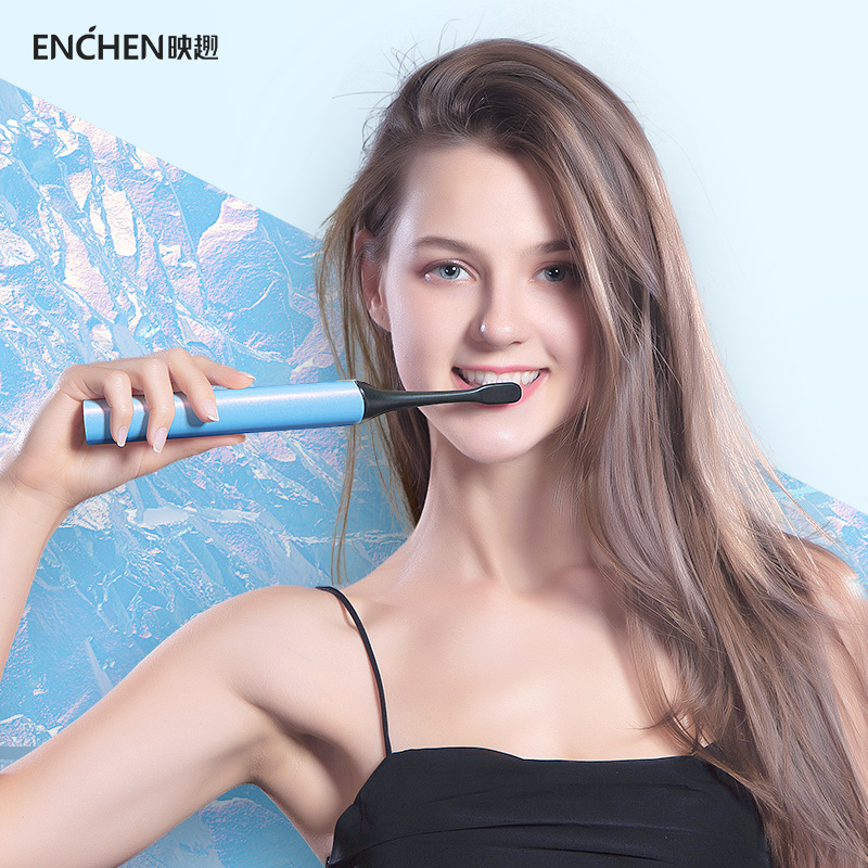 Portable Sonic Electric Toothbrush Upgraded Adult Waterproof Ultrasonic automatic Whitening Toothbrush USB Rechargeable ENCHEN