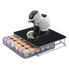 Capsule Coffee Pod Holder Tower Stand Rack Storage Drawer For Dolce Gusto Stainless Steel Coffee Holder Storage Rack Shelv new metal coffee pods holder iron chrome plating stand coffee capsule storage rack dolce gusto capsule free shipping