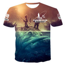 2021 New Men's Summer 3d Printing Outdoor Sports Fishing Leisure Sports Breathable Short Sleeve T-shirt And Top 130-6xl
