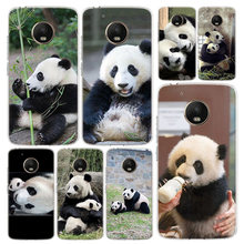 Cute Asian Baby Panda Bear China Phone Case Cover For Motorola Moto G8 G7 G6 G5 G5S G4 E6 E5 E4 Power Plus Play One Action Macro(China)