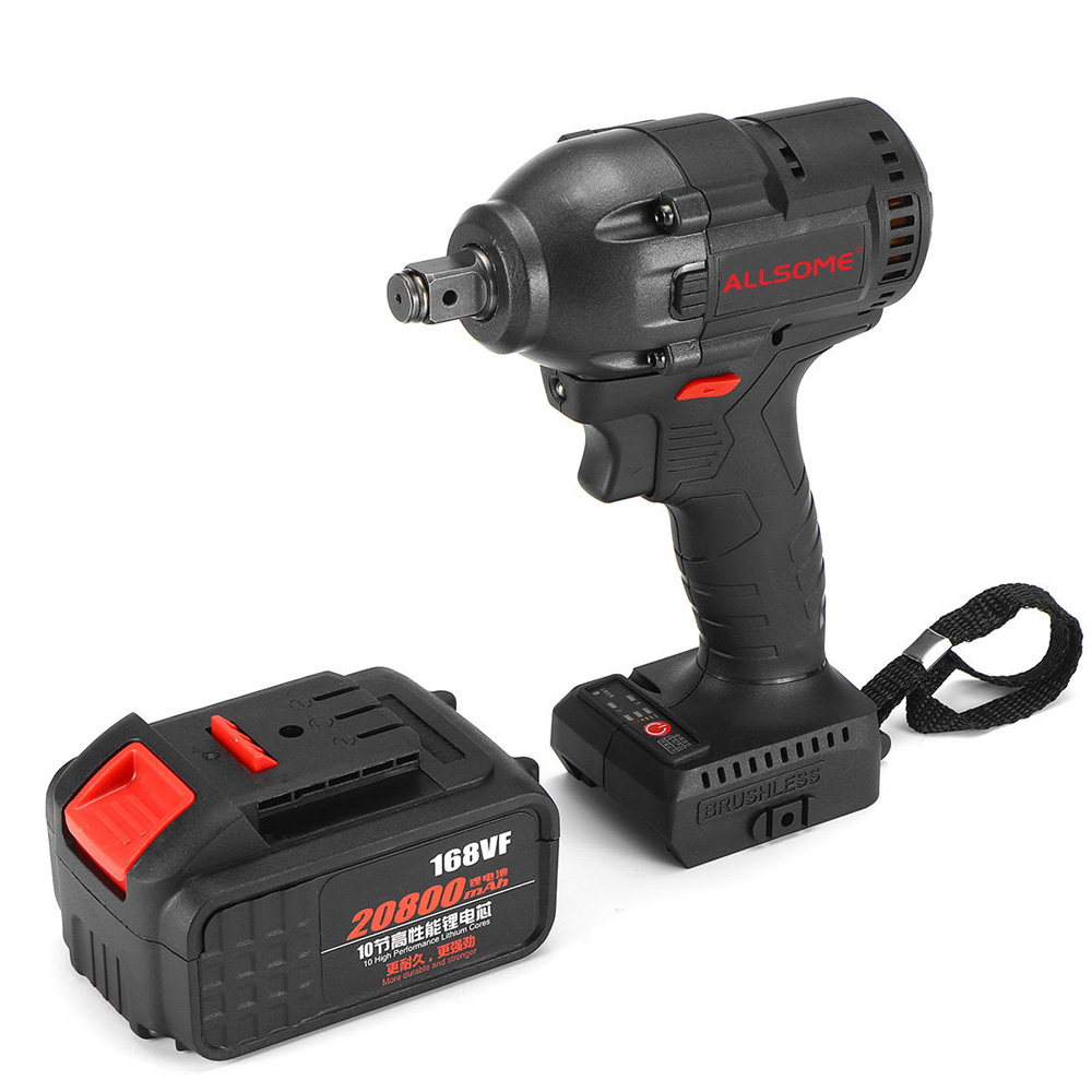 Impact Battery 520N 168VF HT2896 Wrench Cordless M Ion 20800mah Waterproof Wrench Kit Li Brushless Wrench Electric ALLSOME