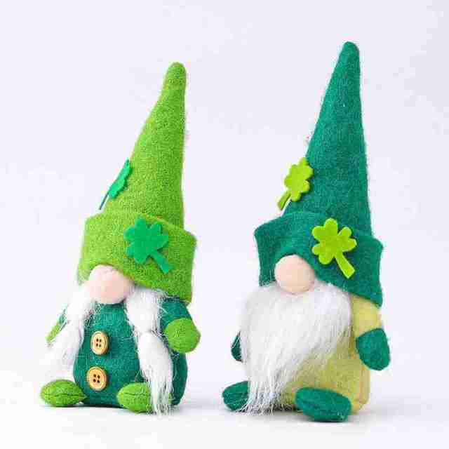 Gnome Plush  St. Patrick's Day Faceless Green Clover Gnomes  Irish Day Party Decor Saint Patricks Day Gifts For Kids 1
