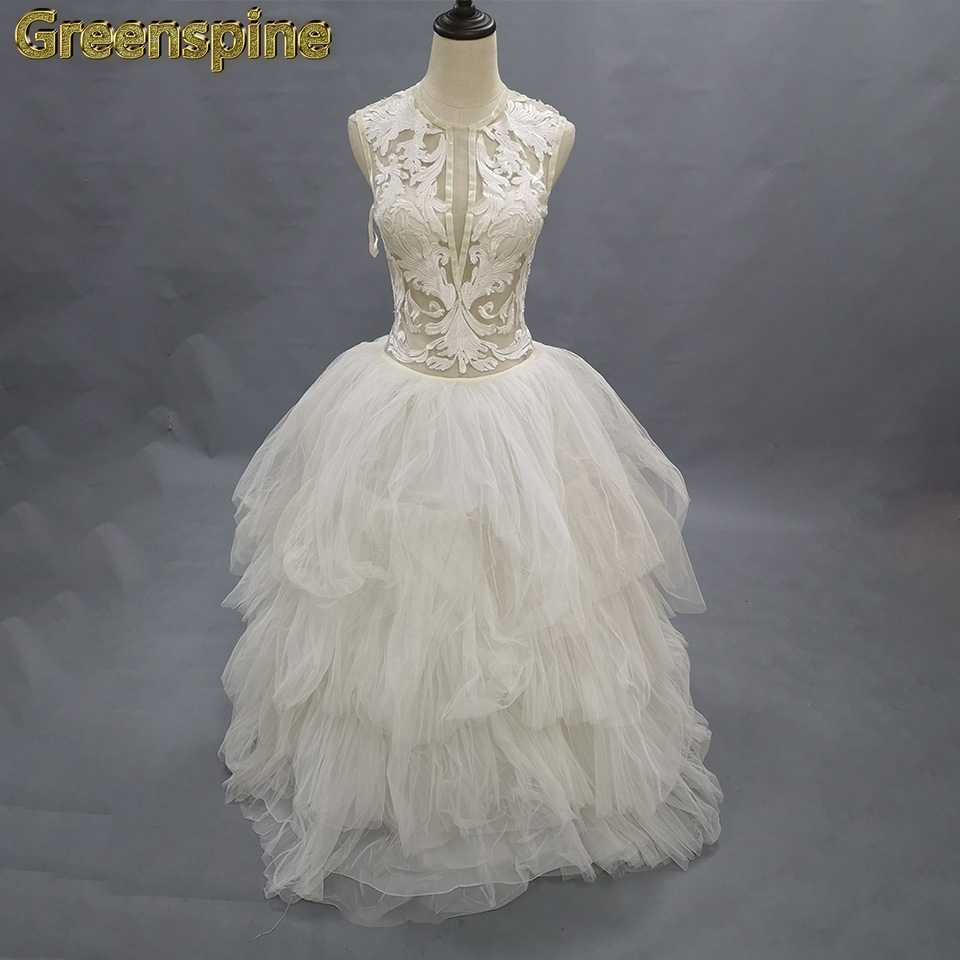 Ivory Fashionable Buttons Wedding Ball Gawn Wedding Dress Clearance 9201 Wedding Dresses Aliexpress