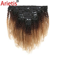 Human-Hair-Extension Curly Arietis Afro Peruvian for White Women in 100%Remy-120gram