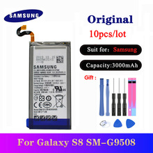 10pcs/lot Original Battery For Samsung Galaxy S8 SM-G9508 G9508 G9500 G950U G950F Replacement Batteria EB-BG950ABE 3000mAh battery original for samsung galaxy s8 eb bg950abe sm g9508 g9500 g950u li ion replacement batteria akku