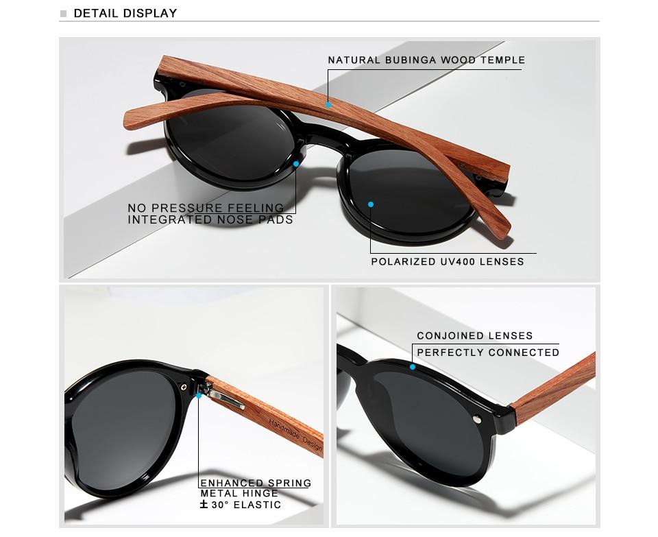 Ha31cf4165b5e4909a72913b76795243fj Custom LOGO Natural Wooden Sunglasses GIFTINGER Bubinga Men's Polarized Glasses Wooden Fashion Sun Glasses Original Accessories