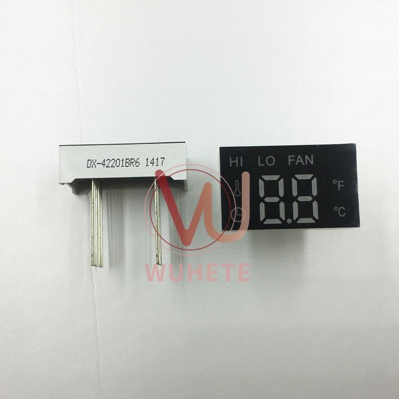 Dx-42201BR6 10 штифтов, 15 мм в длину, 25 мм в длину, красный светильник, общий анод 30*18*9 мм, два положения, отображение температуры, светодиодный цифро...